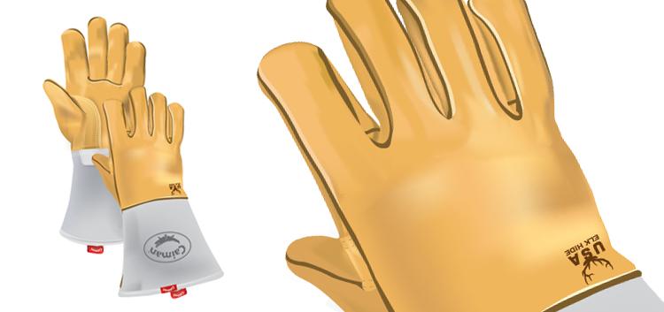 Caiman Gloves Illustration