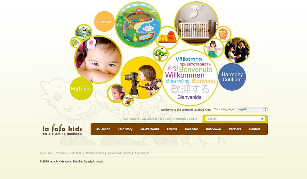 La JaJa Kids E-Commerce Website