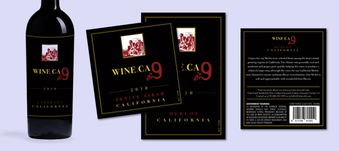 Wine.CA 9 Wine Labels