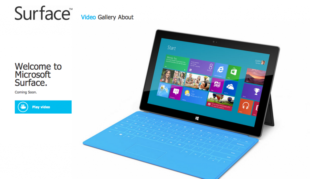 Web Wednesday: The Newest Tablet – Microsoft Surface
