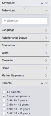 facebook target expectant parents