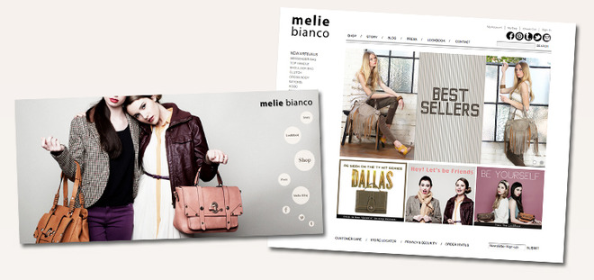 favorite website designs Melie Bianco