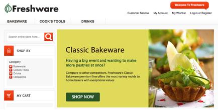 Freshware Homepage