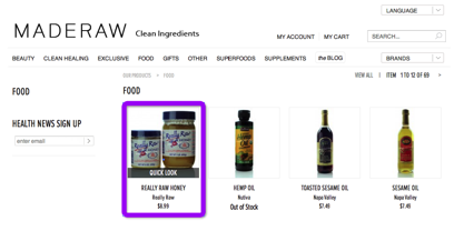 Maderaw Product Page