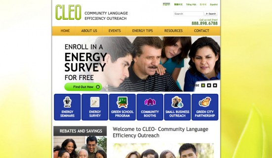 Cleo Community Language Efficiency Outreach Website Design by Ready Artwork