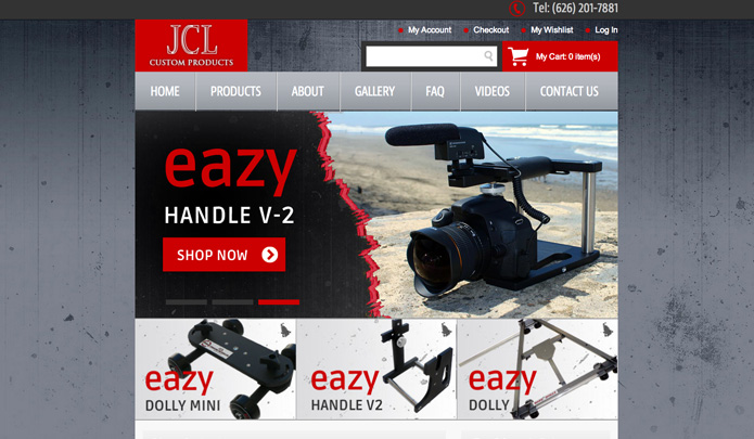 JCL Custom Products Eazy Dolly Web Design By ReadyArtwork.com