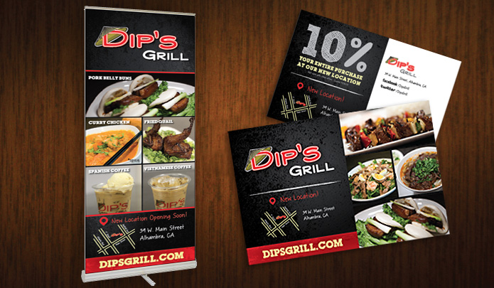 ready artwork graphic design dip's grill