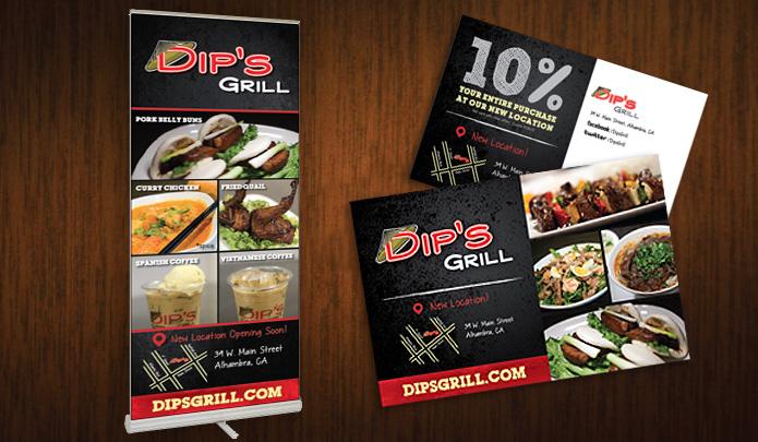 ready artwork graphic design dip's grill