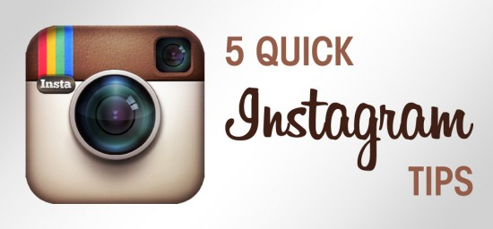 5 Quick Instagram Tips for taking better instagram photos