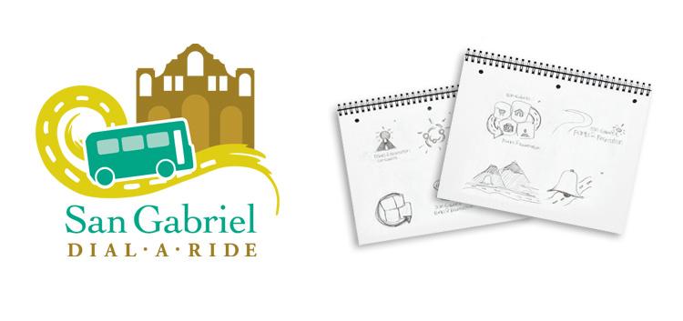 City of San Gabriel Dial-A-Ride Program Logo Design