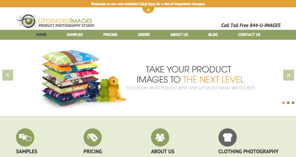 Upgraded Images Website Redesign Portfolio