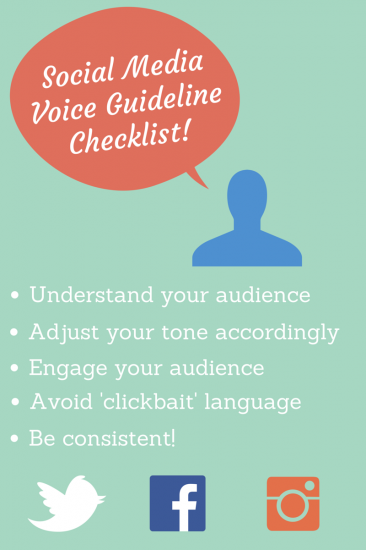 Social Media Voice Guideline Checklist