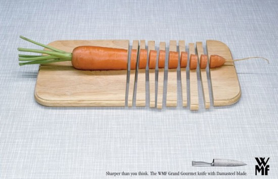 WMF Grand Gourmet Knives Carrot Ad