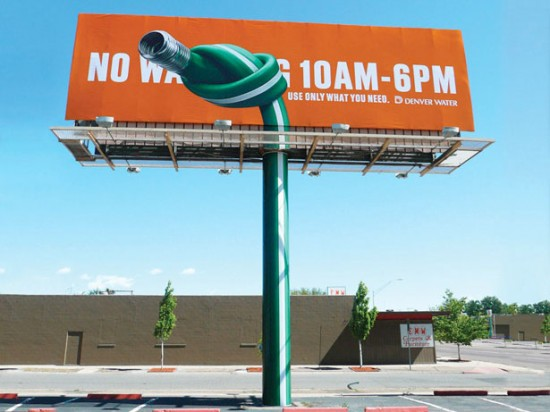 Denver Water Conservation billboard