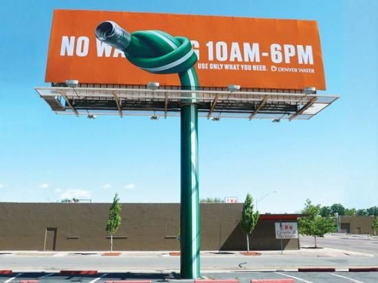 Denver Water Conservation billboard
