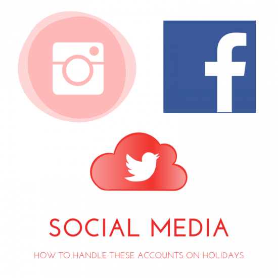 handle social media accounts on holidays