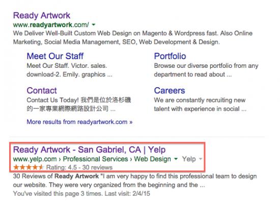 Ready Artwork Yelp Digital marketing strategies
