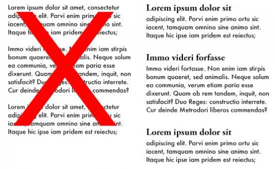 Formatting Content Typography