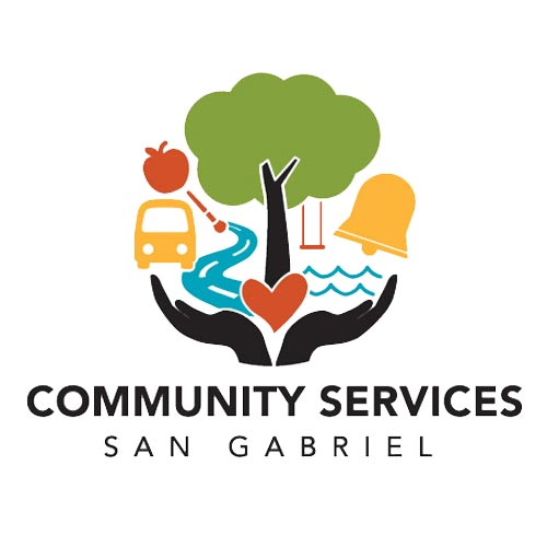 san gabriel community services logo design