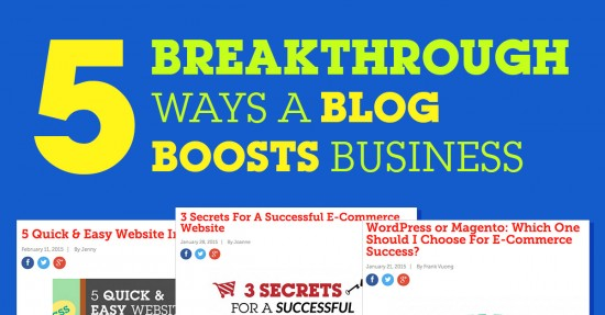 5 Breakthrough Ways A Blog Boosts Business
