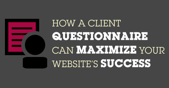 client questionnaire website success