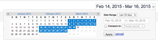 Google analytics basics date range