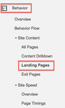 Google analytics basics landing page