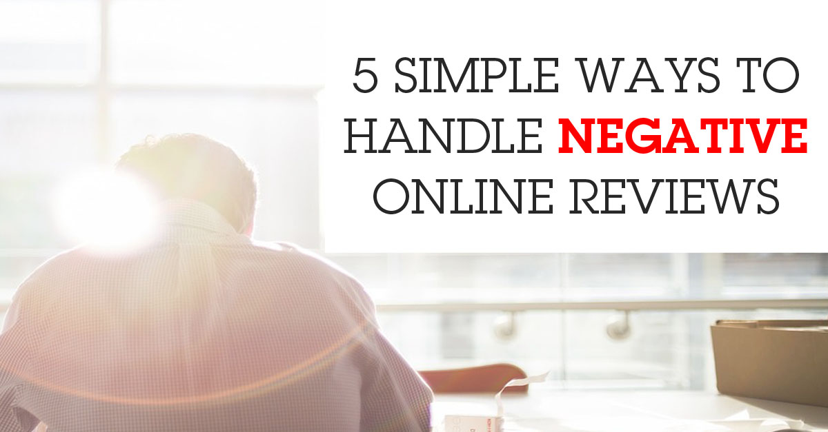 simple ways handle negative online reviews