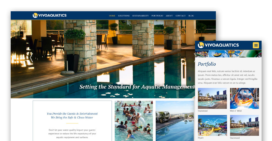 VivoAquatics Website Design