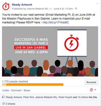 boost post facebook advertising