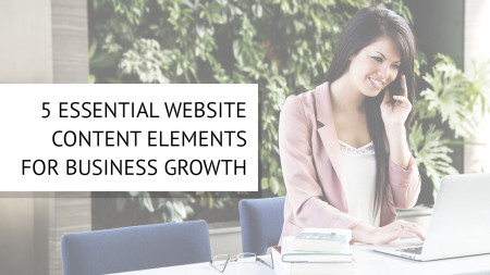 website content elements