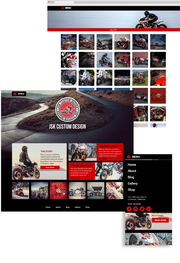 jsk custom website design portfolio