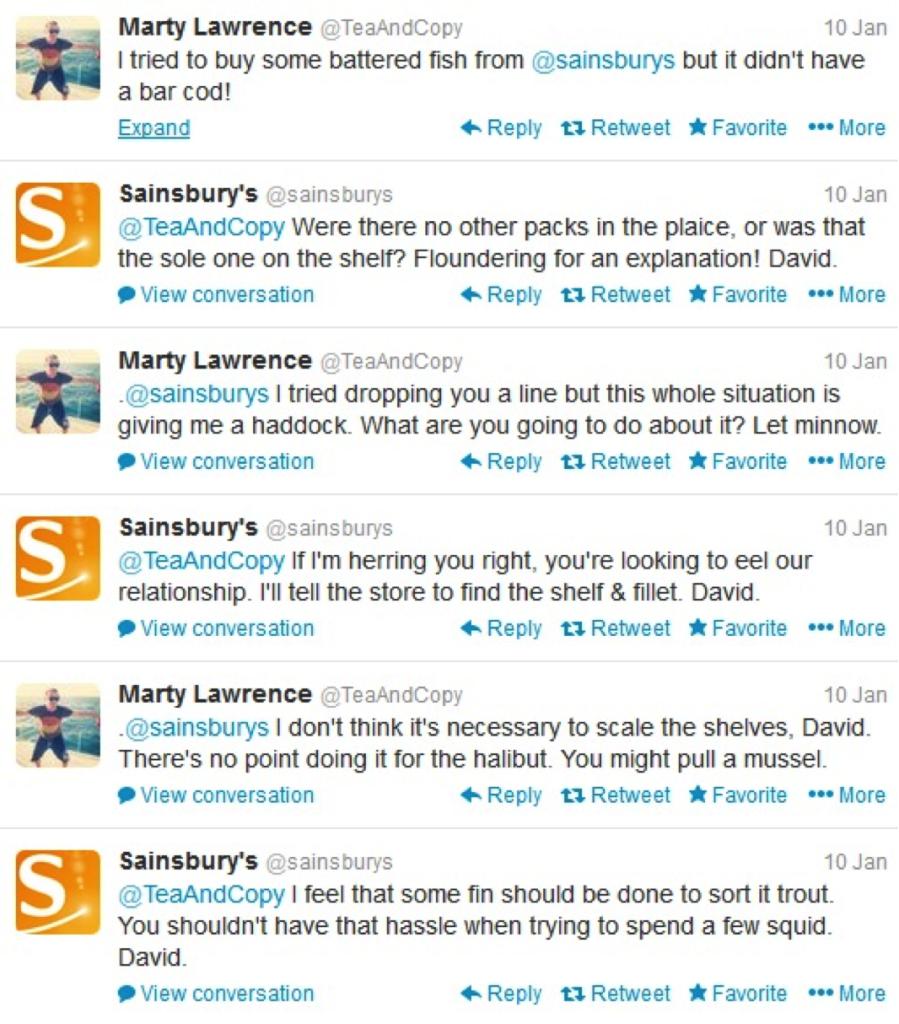 sainsburys funny social media responses