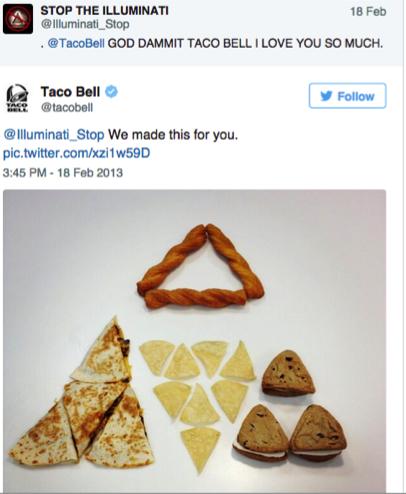 taco bell funny social media responses