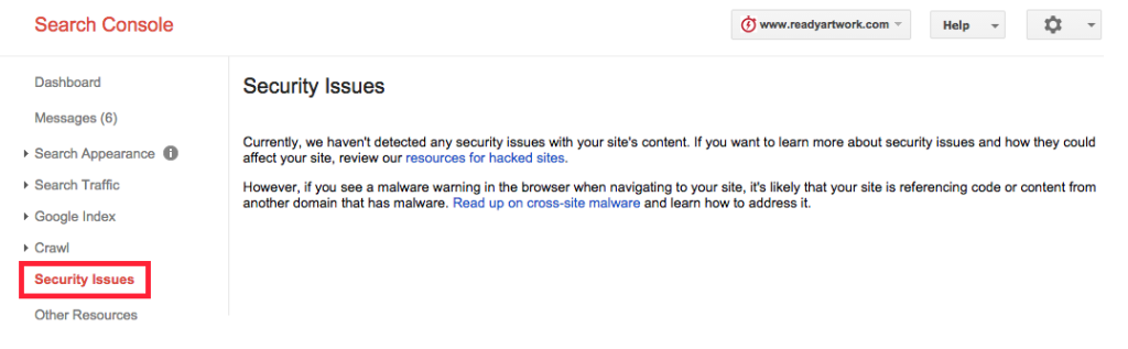 google webmaster tools Security issues and how to prevent becoming a hacker target