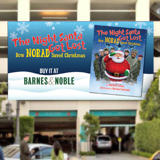 santa got lost billboard design