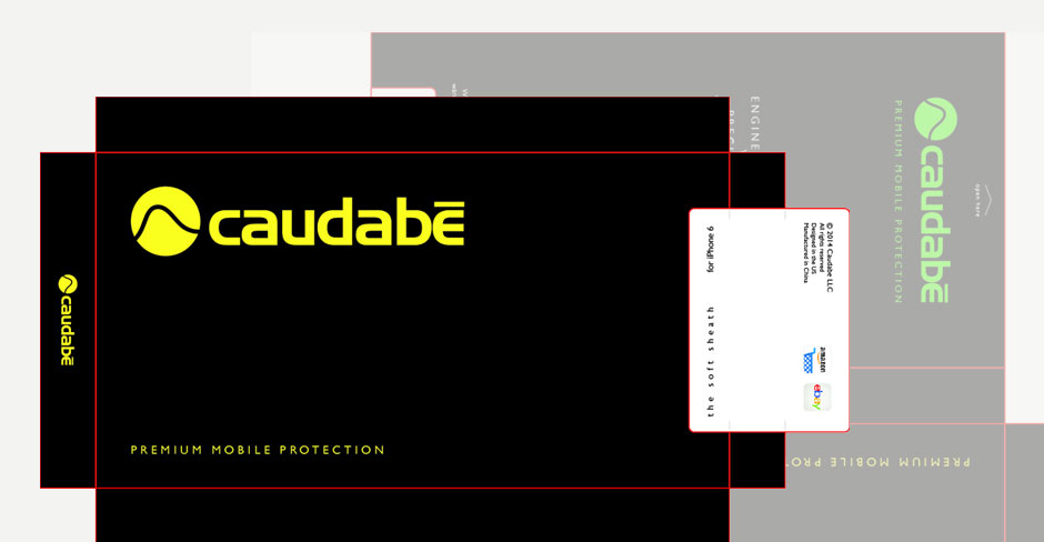 caudabe packaging and graphic design