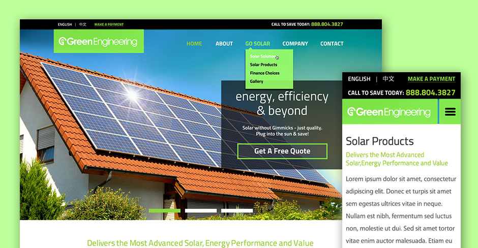 GESC Solar Website Design
