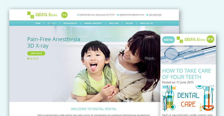 Digital Dental Website Design