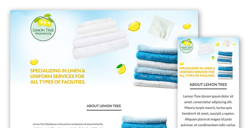 Lemon Tree Washhouse Website Design