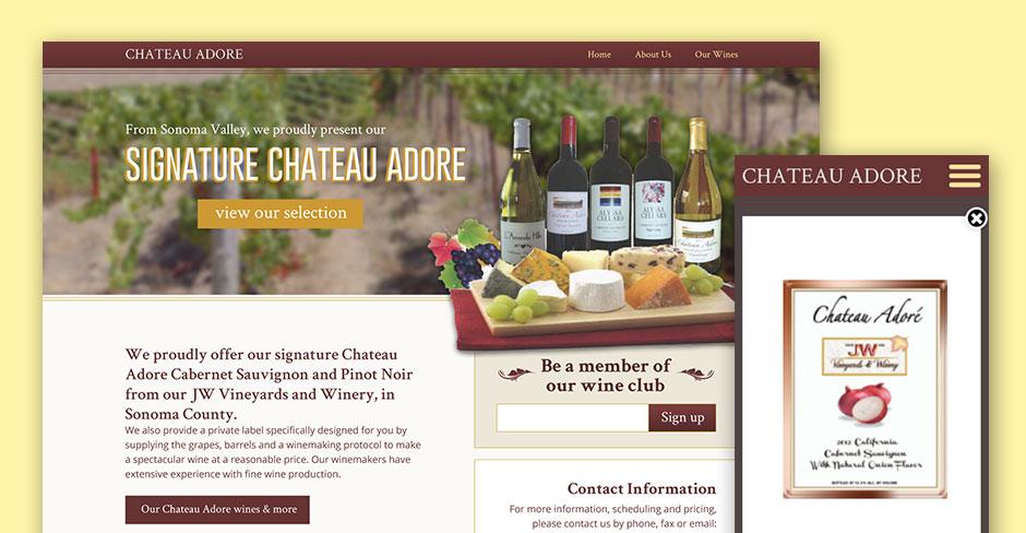 Chateau Adore Website Design