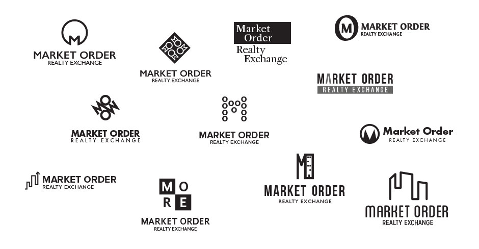 market order logo design sketches