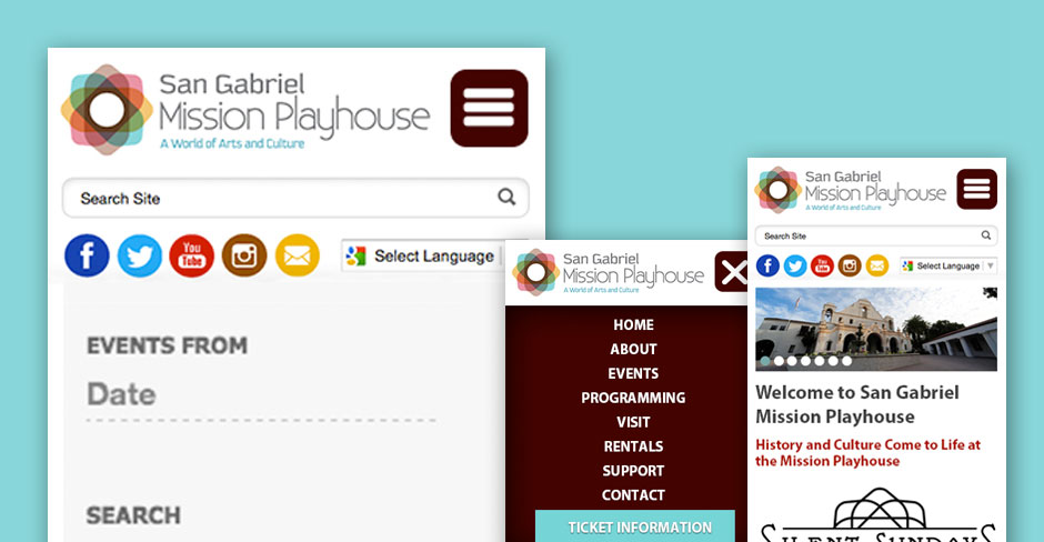 San Gabriel Mission Playhouse Responsive Website