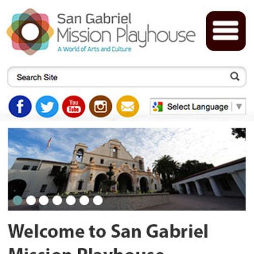 san gabriel mission playhouse website design
