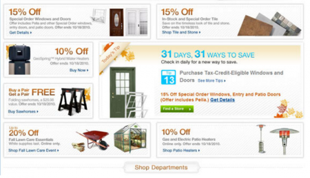 lowes landing pages