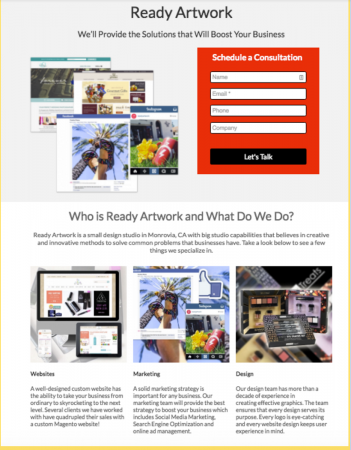 great landing pages - ready artwork