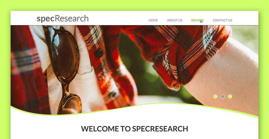 Spec Research Website Design