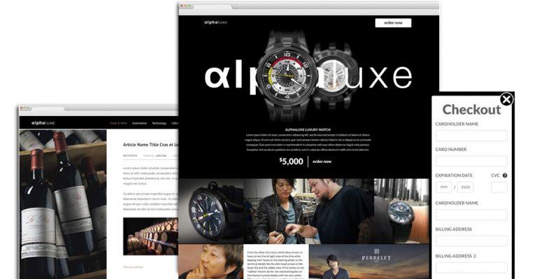 Alpha Luxe: Website Design on WordPress