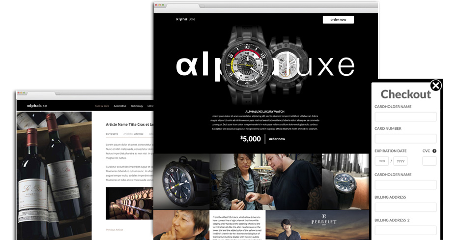 Alpha Luxe: Website Design on WordPress