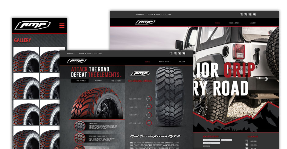AMP Tires Website Design